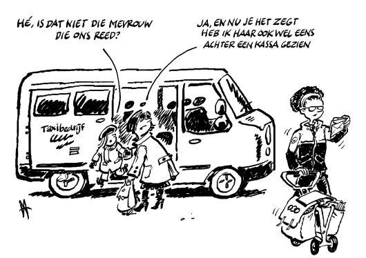 Cartoon kleine baantjes